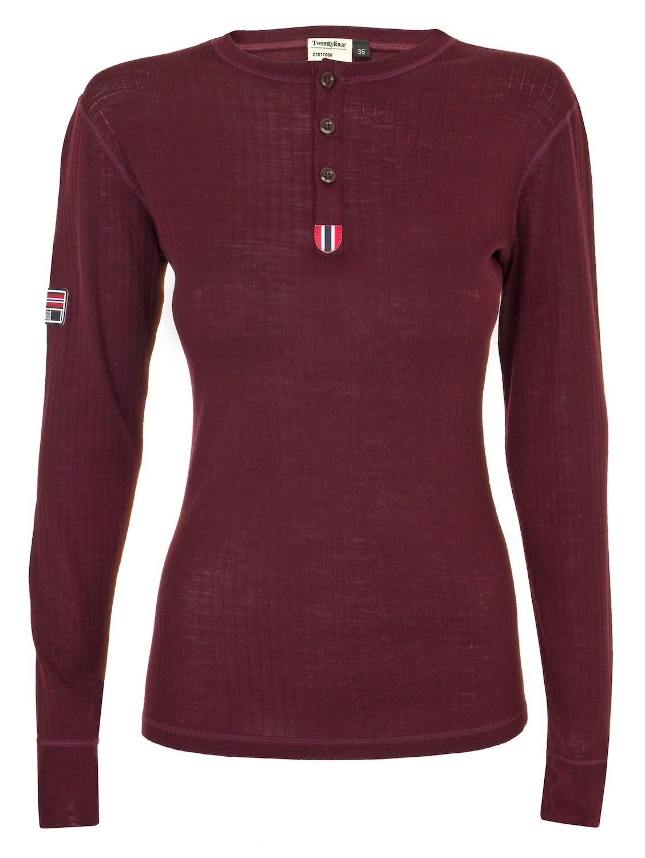 Twentyfour Damen Ski Unterhemd Merino Finse - Ski Unterhemd mit Merino Wolle und hoher Elastizität