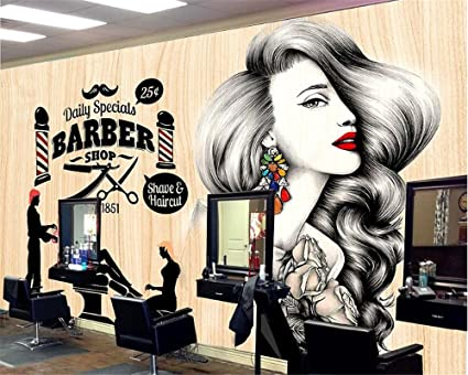 Sproud Simple Fashion Personality 3d Wallpaper Beauty Salon