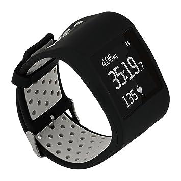TRUMiRR para Fitbit Surge Correa de Reloj, Cubierta Protectora Doble de la Goma de Silicona