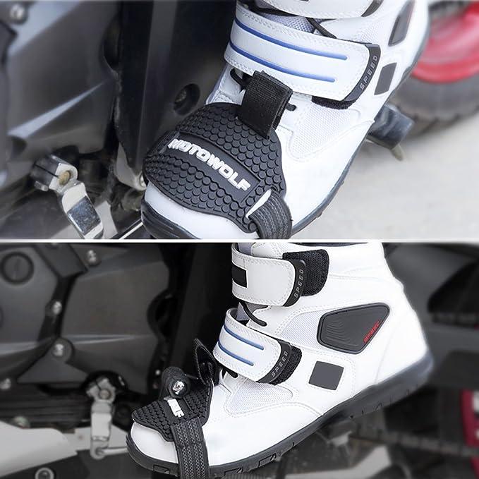 luminiu Motorrad Gangschaltung Pad Motorrad Schuhe Schalthebelkissen Motorrad-Schuh-Abdeckung,Motocross Shift Pad M/änner S tiefel Schuhschutz Motorrad Shift Pad