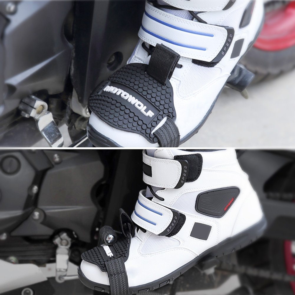 Cuque Universal Motorcycle Gear Shift Pad Rubber Gear Shift Shoes Boots Scuff Protector Shifter Guards Shoe Boot Cover Protective Gear