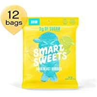 SmartSweets Sour Blast Buddies 1.8 oz Bags (Box of 12), Candy with Low-Sugar (3g) and Low-Calories (80)- Free of Sugar Alcohols and No Artificial Sweeteners, Sweetened with Stevia