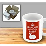 Pet Lover Designer Mug - Keep Calm And Hug Your Rabbit