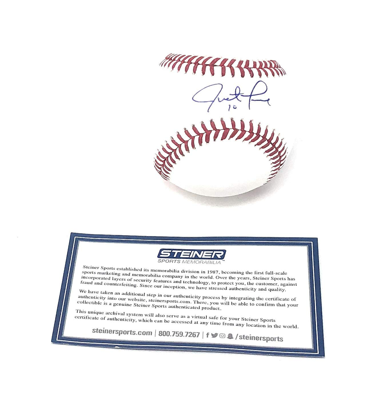 Justin Turner Los Angeles Dodgers Signed Autograph Official MLB Baseball Steiner Sports Certified
