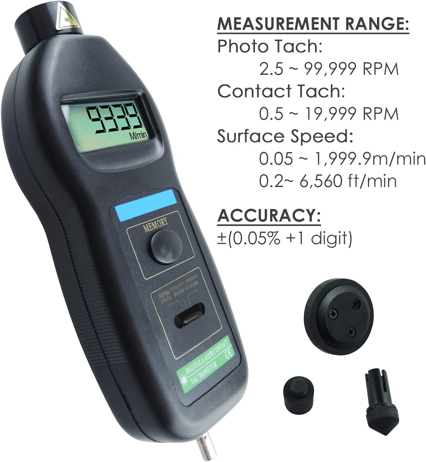 ShiSyan Y-LKUN Digital Tachometer RPM Meter Non-Contact 2.5Rpm-99999Rpm LCD Display Speed Meter Dt2234C Tester Speed