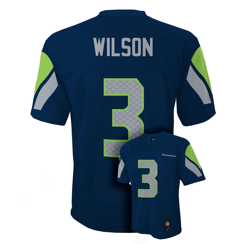 9d3aa1c8 Outerstuff Russell Wilson Seattle Seahawks Youth Navy Jersey