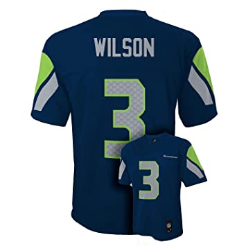 new product a4fc6 ee71c Outerstuff Russell Wilson Seattle Seahawks Youth Navy Jersey
