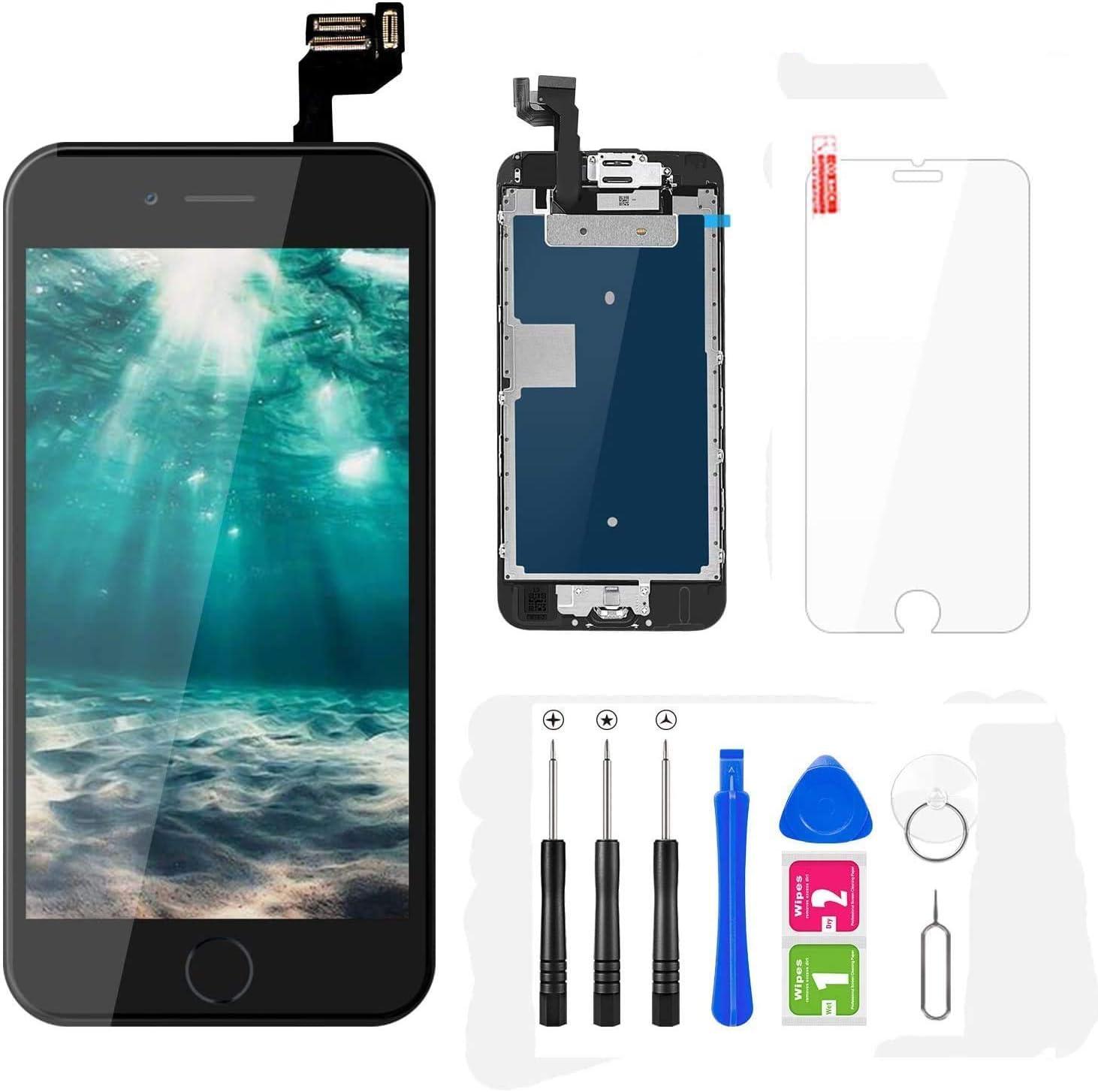 FLYLINKTECH Pantalla para iPhone 6s 4.7 ,Táctil LCD de Repuesto Ensamblaje de Marco Digitalizador con botón de Inicio,cámara Frontal,Sensor de ...