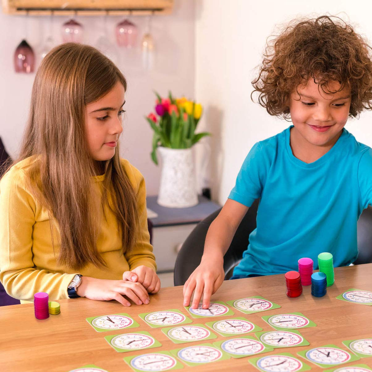 Toyvian 300 Piezas de Tarjetas de Juego de Bingo de pl/ástico de Colores cuentan fichas de Bingo para Juegos de matem/áticas de Fiesta de Carnaval