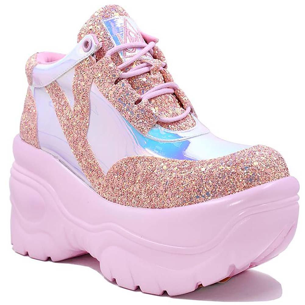 b47e883aadb Amazon.com   YRU Matrixx Festival Rave Sneakers in Pink Atlantis (8 ...