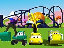 Equipo Constructor construye un Paseo Astronómico y una Tirolesa para los Carritos Bebés. ¡Ethan el camión volquete, Edgar la excavadora y Charlie la grúa ...