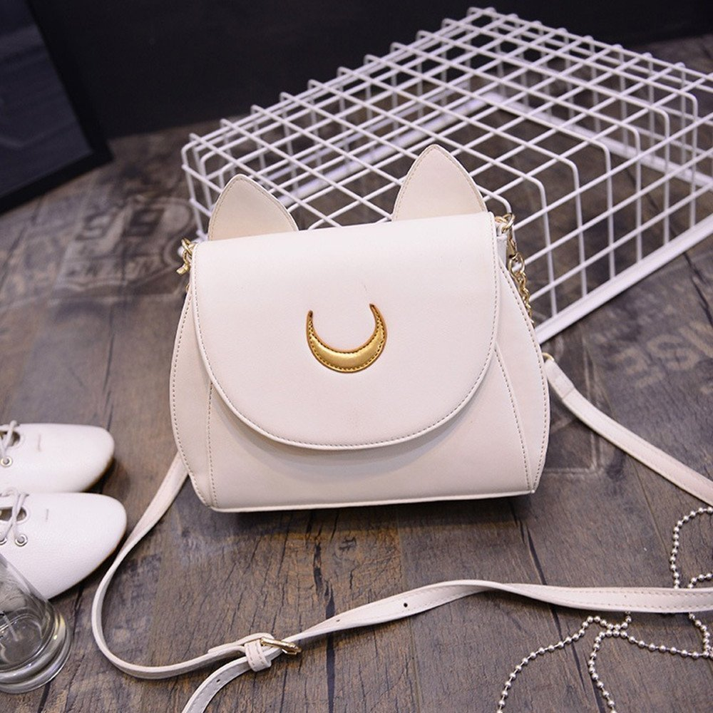 StillCool Cosplay Sailor Moon Usagi ear PU Leather Women Handbag Shoulder Bag STCA0086140141
