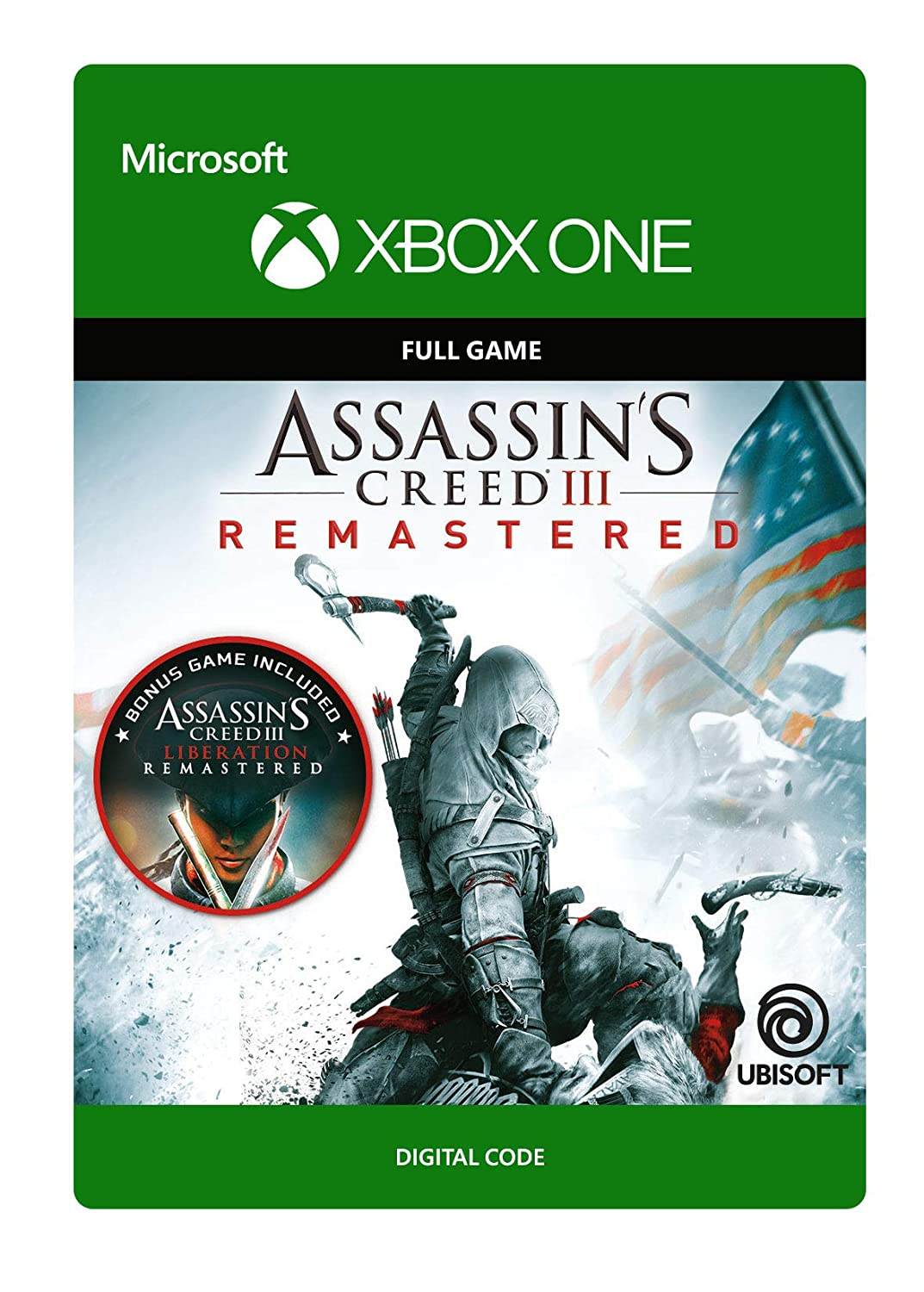 Amazon Com Assassin S Creed Iii Remastered Xbox One Digital Code Video Games