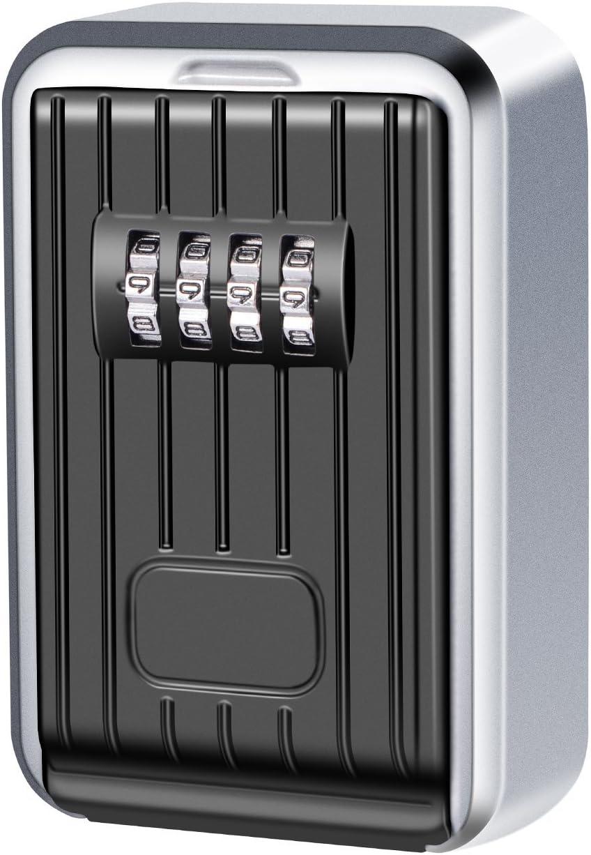Airbnb Kasachoy Cassetta di sicurezza per chiavi con combinazione a 4 cifre garage resistente alle intemperie per chiavi di ricambio