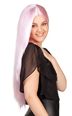 Peluca rosa pálida