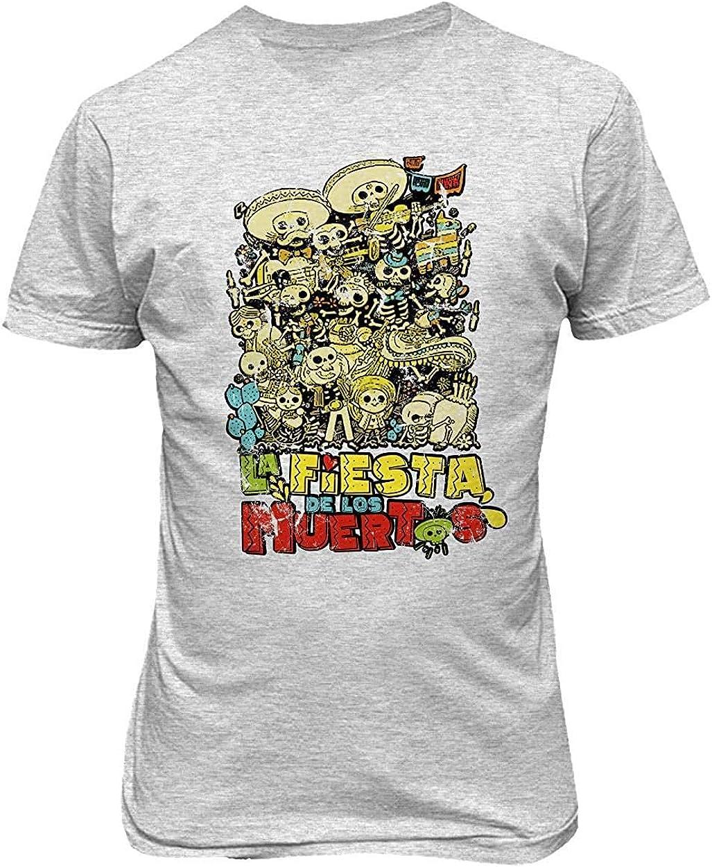 Sunyuer Camiseta gráfica Day of The Dead para Hombre La Fiesta Los ...