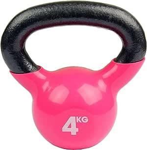 Fitness Mad Kettlebell - Pesa rusa de ejercicio y fitness, color rosa, peso 4 kg: Amazon.es: Deportes y aire libre