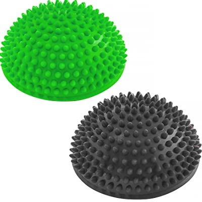 Lot de 2 Boules d'équilibre »Igel« / idéale pour le fitness, l'aérobic, le Pilates, la gymnastique / produit haute qualité pour l'amélioration de l'équilibre, la mobilit&e