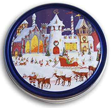 Christmas Holiday Butter Cookies Tin The North Pole