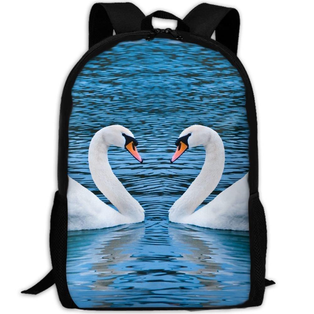 ZQBAAD Swan Love Luxury Print Men And Women's Travel Knapsack