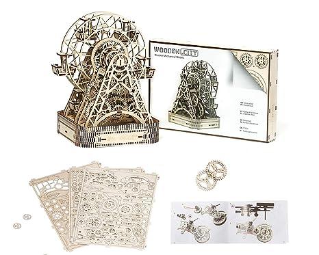 HQ Windspiration Ferris Wheel 3D-Holzfunktionsbausätze, Holz, Natur 220 x 260 x 322 cm