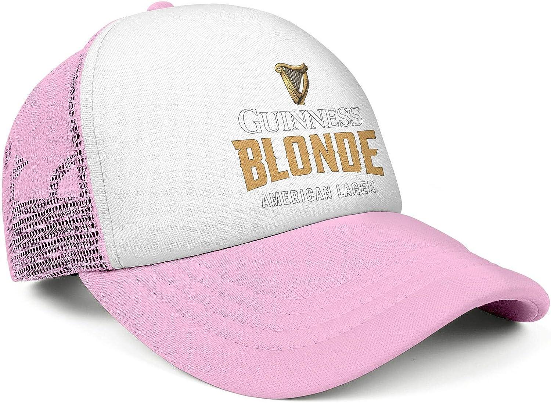 Unisex Caps Guinness-Blonde-White Sports Cap Mens Womens Flat Baseball Hat