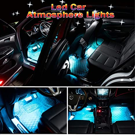 img buy Car Interior Lights,GOADROM Car Interior Atmosphere Neon Lights Strip for Car undercar lights with remote,Waterproof Glow Neon Light Strips Decoration Light Lamp(Ice Blue)