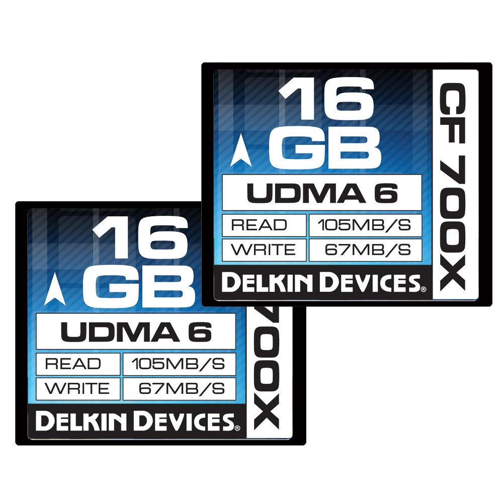 Delkin 16 GB CF 700X UDMA 6 Memory Card, 2 Pack (DDCF700-16 GB(2X16))