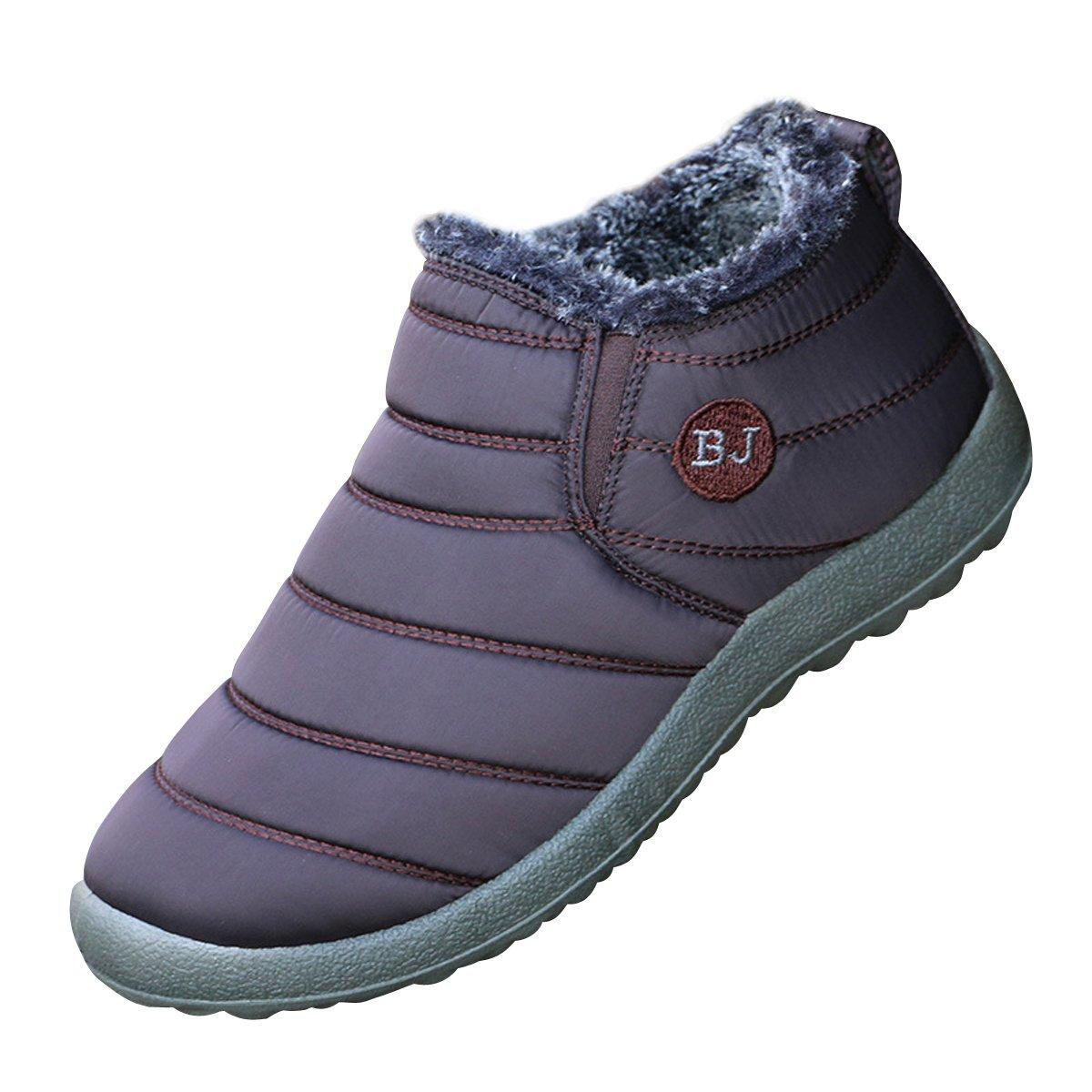 Dear Time Women Winter Snow Ankle Boots Fur Lining Waterproof Outdoor Slip On Booties Sneakers US 9