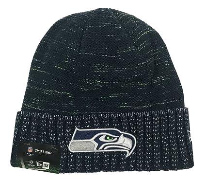 New Era NFL Seattle Seahawks Adult Men NFL Kickoff Reverse Team Knit Beanie  38b169c288c9