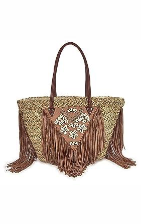 a5261a05e176db Brown beach bag Brigitte Amenapih by Hipanema: Amazon.co.uk: Clothing