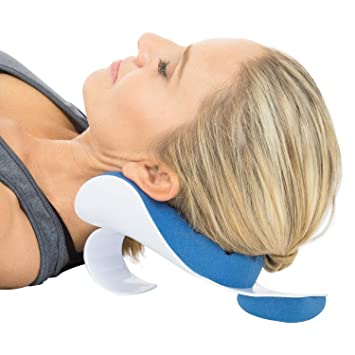 Amazon Com Vive Neck Support Relaxer Shoulder Chiropractic Pillow