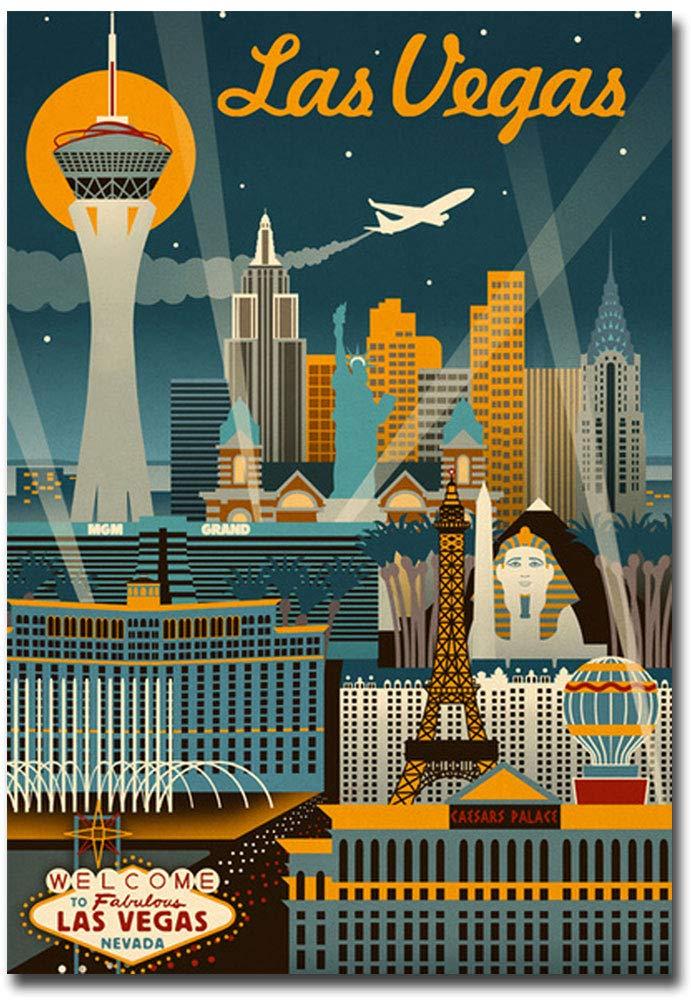 "Las Vegas Nevada Travel Vintage Art Refrigerator Magnet Size 2.5"" x 3.5"""