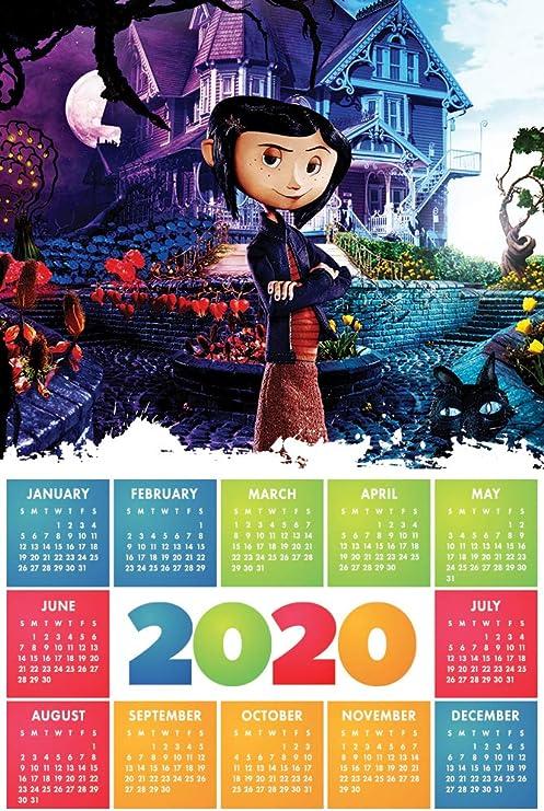 Coraline 2020 Calendar Movie Poster Wall Decor 17 X 25 Amazon Ca Home Kitchen