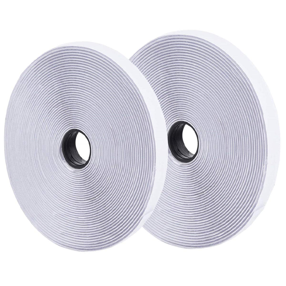 ONEST 82 Feet /25m White Self Adhesive Hook and Loop Tape Sticky Back Fastening Tape by ONEST