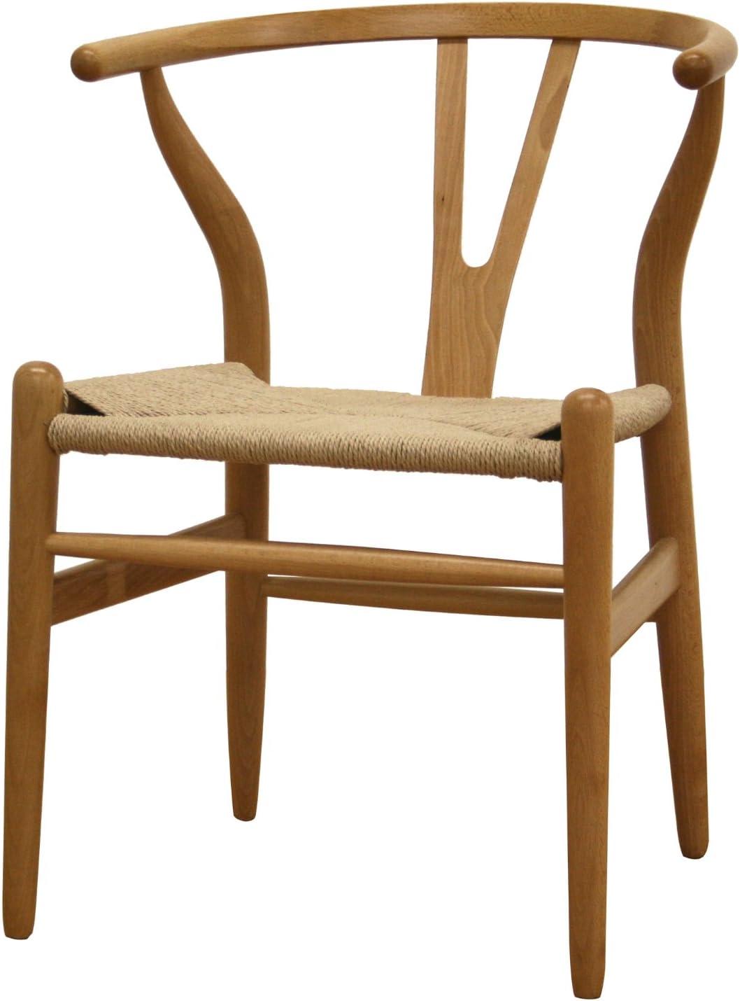 Amazon Com Baxton Studio Claus Wood Chair Furniture Decor