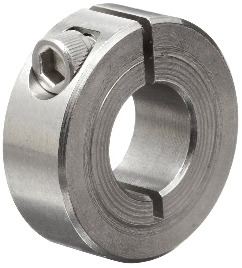 "B00207SX1Y Climax Metal 1C-050-S T303 Stainless Steel One-Piece Clamping Collar, 1/2"" Bore Size, 1-1/8"" OD, With 8-32 x 1/2 Set Screw 71GrYyHx7uL"