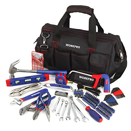 d738e5771e7 WORKPRO 156-Piece Home Repair Tool Set - Daily Use Hand Tool Kit with Wide