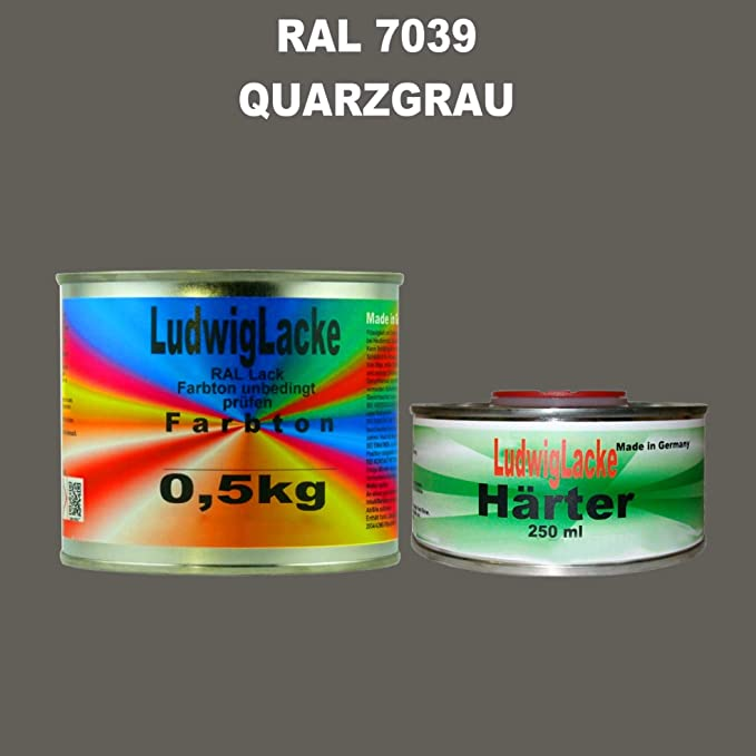 Ral 7039 Quarzgrau Acryllack 0 75 Kg Matt Mit Härter Auto
