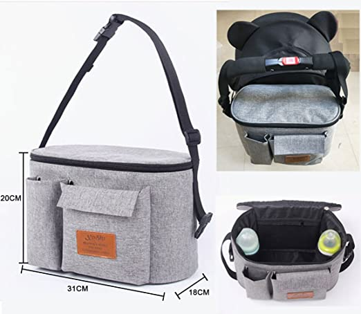Amazon.com : ACCOCO Parents Stroller Organizer Bag- Fits All Baby Strollers. Large Capacity Shoulder Bag/Diaper Bag with Cup Holder, Extra Storage Space for ...