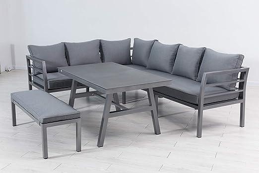 elGiga Anastasia Deluxe - Conjunto de Muebles de jardín (Aluminio ...