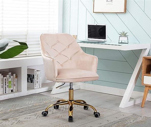 Velvet Swivel Home Office Desk Chair