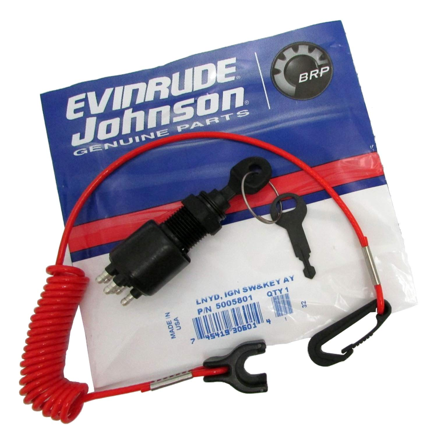 amazon com lnyd ign sw key ay boat engine spare parts kits rh amazon com Evinrude Ignition Switch Wiring Diagram Key Switch Wiring
