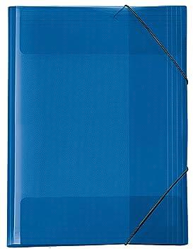 Carpeta archivadora A3, color azul transparente: Amazon.es: Oficina y papelería