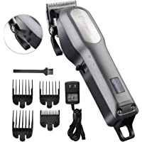 Professional Hair Clippers for Men, BESTBOMG Rechargeable Cordless Hair Cutting Kit, Home Barber Hair Trimmer with Precision Blades Heavy Duty Motor LED Display and 2000mAh Lithium Battery