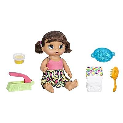 Baby Alive Super Snacks Snackin' Noodles Baby (Brunette): Toys & Games