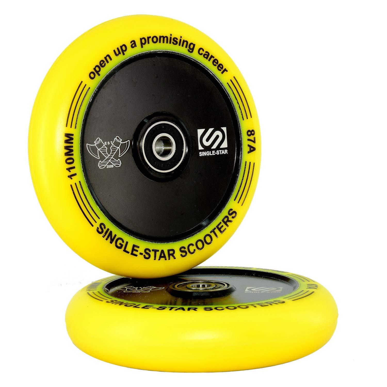 SINGLE-STAR Pro Stunt Scooter Wheel 110mm Replacement Wheel for Scooter Replacement Pack of 1 Pair