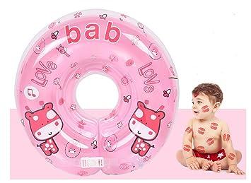 Infant Natación Flotador Inflable Anillo de Seguridad,GZQES,Asiento Inflable de Piscina Nadar Anillo para Bebe (Rosa)