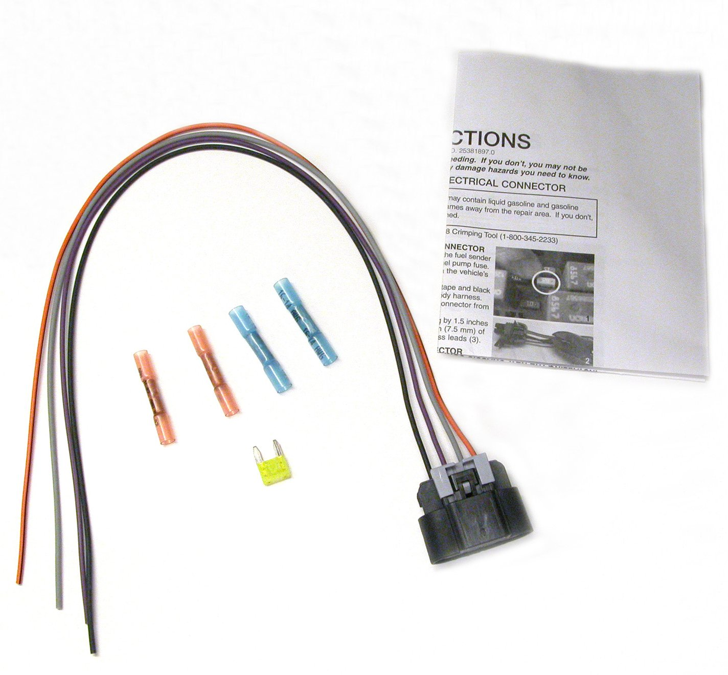 71Grf8PrFuL._SL1424_ amazon com delphi fa10003 fuel pump wiring harness automotive Honda Civic Fuel Pump Wiring at gsmx.co