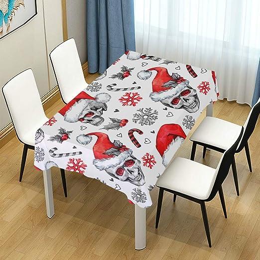 DXG1 Mantel de Navidad con diseño de Calavera de Papá Noel para ...